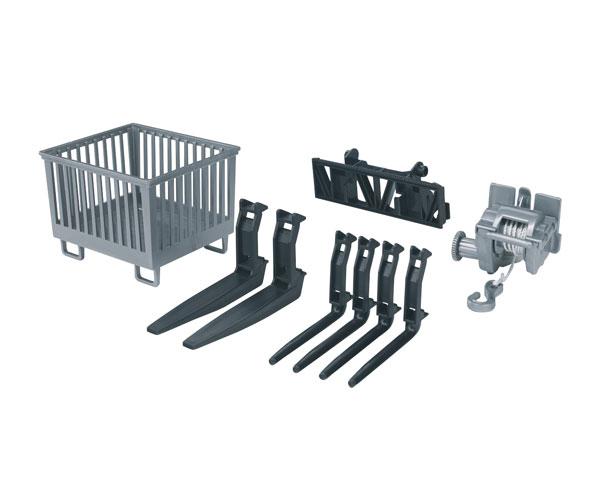 Conjunto de accesorios para tractores de juguete Bruder 02318