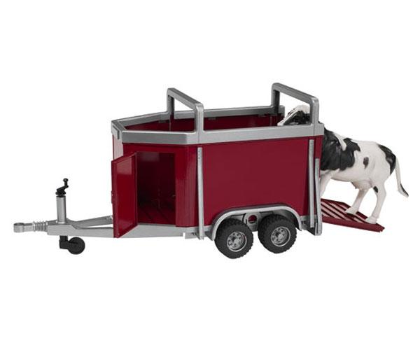 Remolque de juguete transporte ganado con 1 vaca