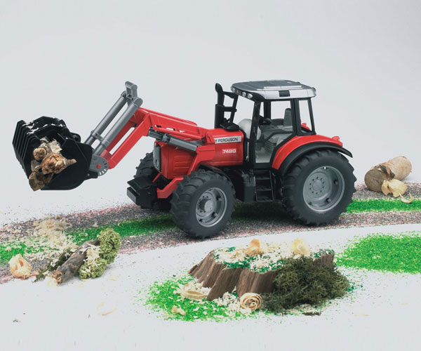 Tractor de juguete MASSEY FERGUSON 7480 con pala - Ítem2