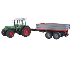 Tractor de juguete FENDT 209 S con remolque