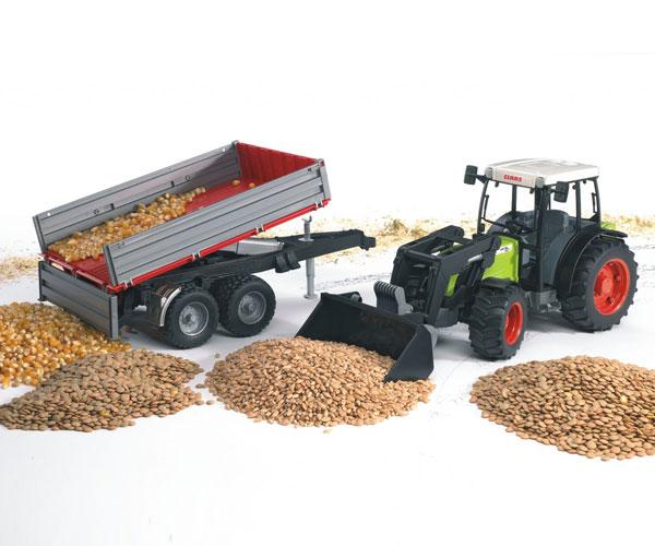 Tractor de juguete CLAAS Nectis 267 F con pala y remolque - Ítem2