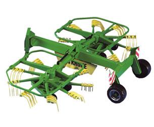 Rastrillo hilerador de juguete KRONE Swadro 761 Bruder 02216