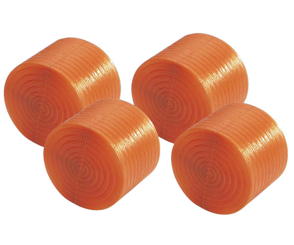 Grupo de 4 pacas cilíndricas de juguete Bruder 02344