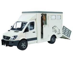 Furgón de juguete MERCEDES BENZ Sprinter para el transporte de caballos