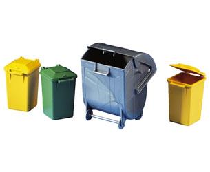 Contenedores basura de juguete (4 unidades)