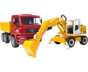 Camión de juguete MAN TGA C/ Excavadora LIEBHERR 912