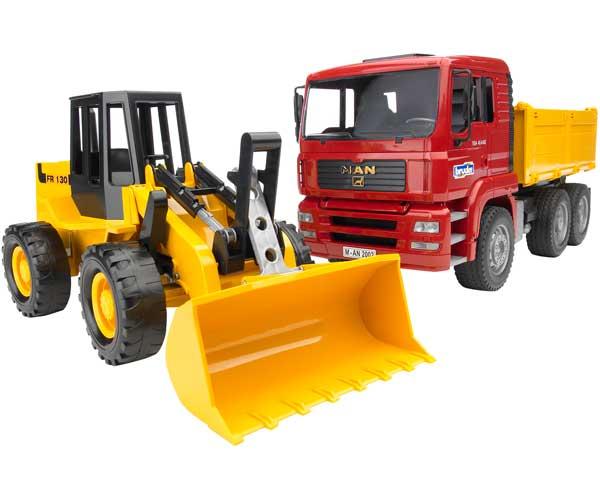 Camión de juguete MAN TAG con cargadora FR13
