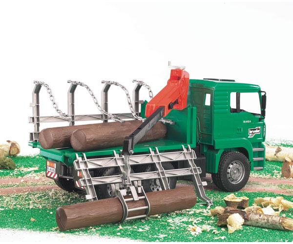 Camión forestal de juguete MAN TG 410 A con 3 troncos - Ítem2