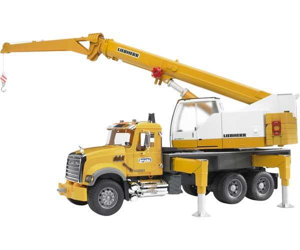 camion de juguete mack granite con grua - Ítem1