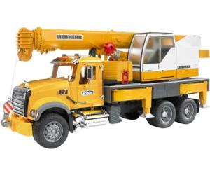 camion de juguete mack granite con grua