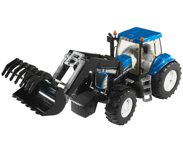 Tractor de juguete NEW HOLLAND T8040 con pala