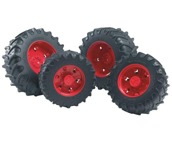 Juego ruedas gemelas llantas rojas tractores de juguete serie 03000 Bruder 03313