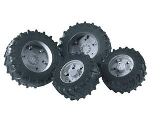 Ruedas gemelas tratores de juguete serie 03000 llantas grises Bruder 03315