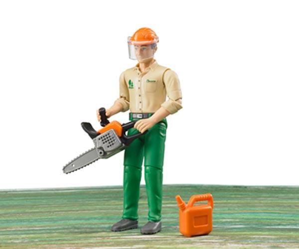 Trabajador forestal con accesorios - Ítem1