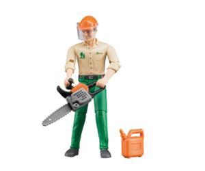 Trabajador forestal con accesorios