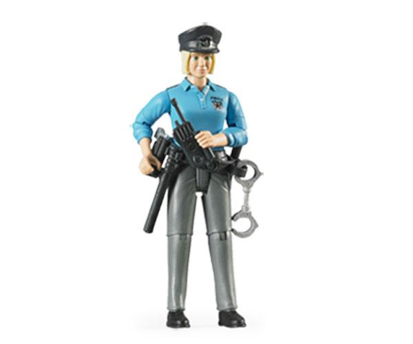 Mujer policia con accesorios