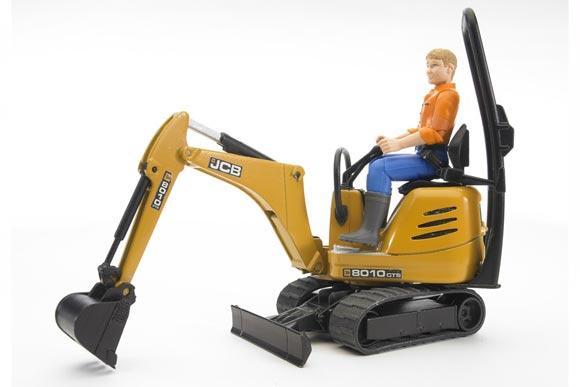 Miniexcavadora de juguete JCB 8010 CTS con conductor - Ítem1
