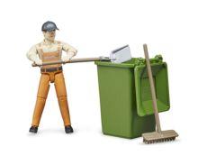 BRUDER 1:16 Operario de limpieza con acccesorios - Ítem1