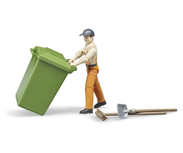 BRUDER 1:16 Operario de limpieza con acccesorios - Ítem2