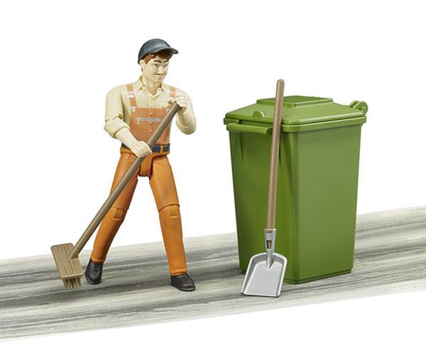 BRUDER 1:16 Operario de limpieza con acccesorios - Ítem3