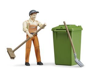 BRUDER 1:16 Operario de limpieza con acccesorios