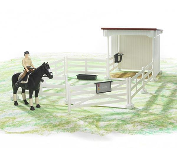 Pack vallado de juguete con caballo y jinete - Ítem2