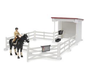 Pack vallado de juguete con caballo y jinete