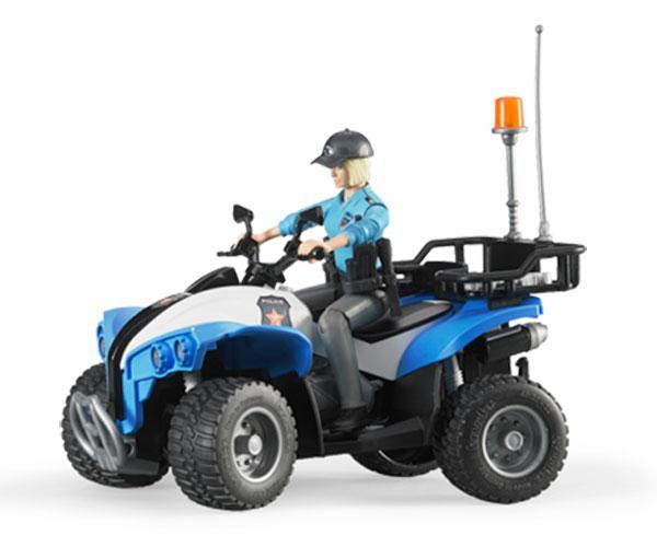 Quad de juguete con mujer policia