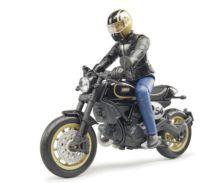 BRUDER 1:16 Moto DUCATI Scrambler Cafe Racer con piloto - Ítem1