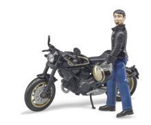 BRUDER 1:16 Moto DUCATI Scrambler Cafe Racer con piloto - Ítem2