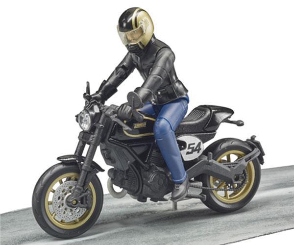 BRUDER 1:16 Moto DUCATI Scrambler Cafe Racer con piloto - Ítem3