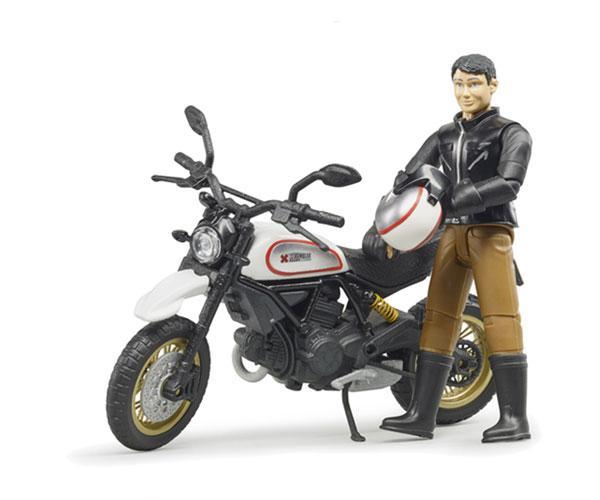 BRUDER 1:16 Moto DUCATI Scrambler Desert Sled con piloto - Ítem1