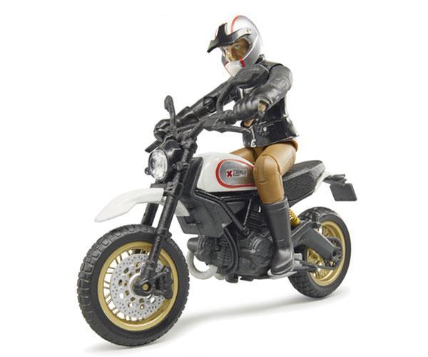 BRUDER 1:16 Moto DUCATI Scrambler Desert Sled con piloto - Ítem2