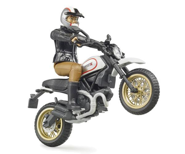 BRUDER 1:16 Moto DUCATI Scrambler Desert Sled con piloto - Ítem3