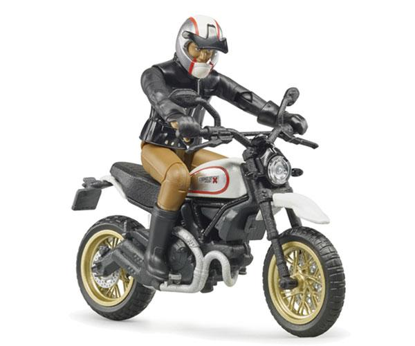 BRUDER 1:16 Moto DUCATI Scrambler Desert Sled con piloto