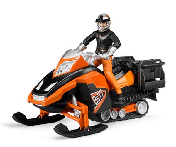 Moto de nieve de juguete con conductor Bruder 63101