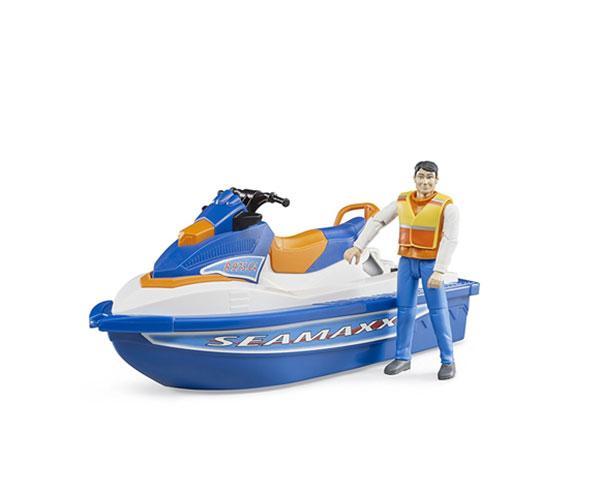 BRUDER 1:16 Moto acuática con piloto - Ítem1