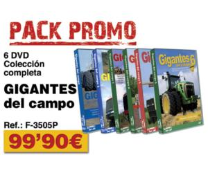 Pack promo DVDs Gigantes del campo