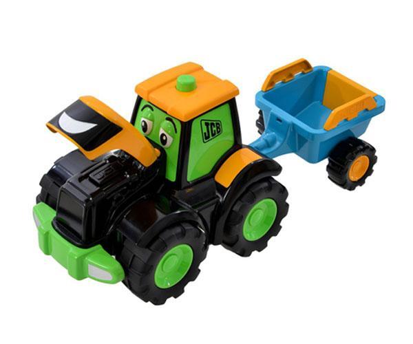 Tractor de juguete JCB con remolque Golden Bear 4036 - Ítem1