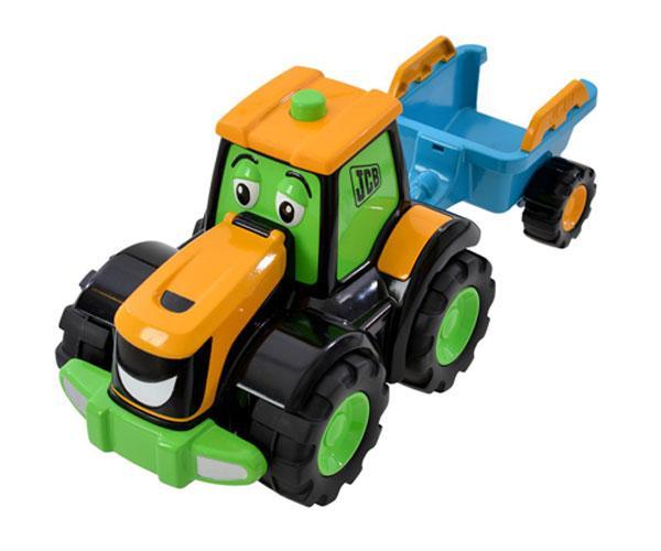 Tractor de juguete JCB con remolque Golden Bear 4036