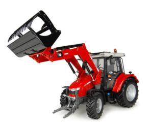 Réplica tractor MASSEY FERGUSON 5713 con pala Universal Hobbies UH4903