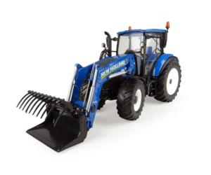 Réplica tractor NEW HOLLAND T5.120 con pala Universal Hobbies UH4958