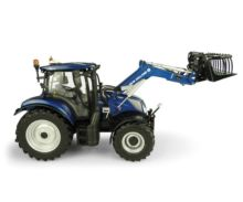 UNIVERSAL HOBBIES 1:32 Tractor NEW HOLLAND T6.175 Blue Power con pala 770 TL UH5320 - Ítem1