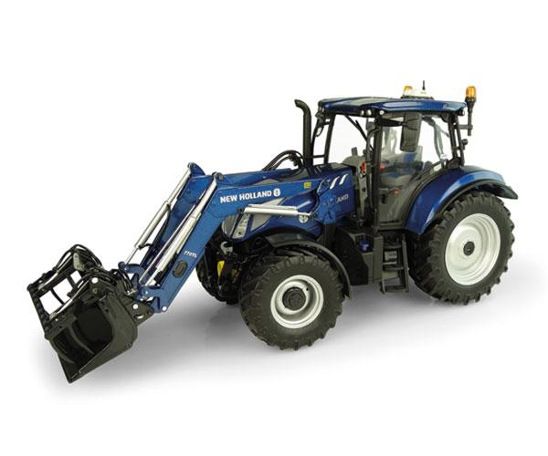 UNIVERSAL HOBBIES 1:32 Tractor NEW HOLLAND T6.175 Blue Power con pala 770 TL UH5320
