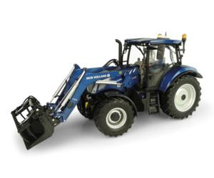 UNIVERSAL HOBBIES 1:32 Tractor NEW HOLLAND T6.175 Blue Power con pala 770 TL