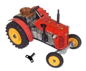 Tractor a cuerda ZETOR 25A rojo Kovap 0373