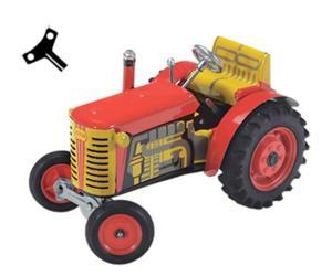 Tractor de cuerda ZETOR rojo