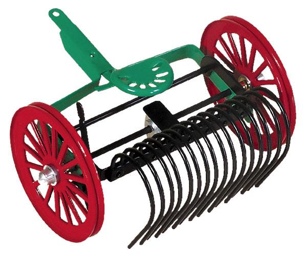 Rastrillo para tractores de cuerda