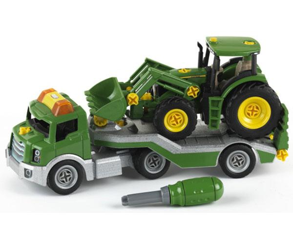 Camion gondola de juguete con tractor JOHN DEERE klein 3908