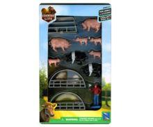 Pack granjero, berracos, cerda, lechones, cobertizos New Ray 05515 - Ítem1